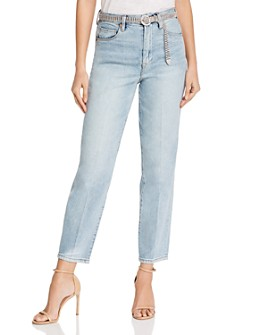 BLANKNYC - Belted Straight-Leg Jeans in Gimme the Loot