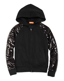 Butter - Girls' Sequin-Sleeve Hoodie - Little Kid, Big Kid