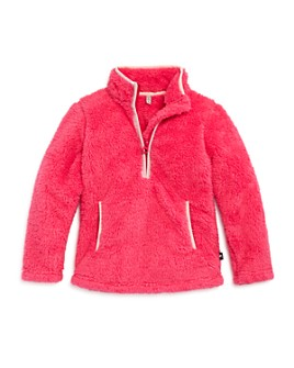 Joules -  Girls' Emilie Faux Fur Quarter-Zip Sweatshirt - Little Kid, Big Kid