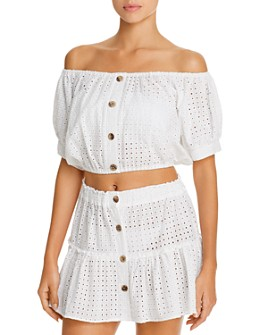 Eberjey - Portola Harper Cropped Top & Nellie Mini Skirt Swim Cover-Ups