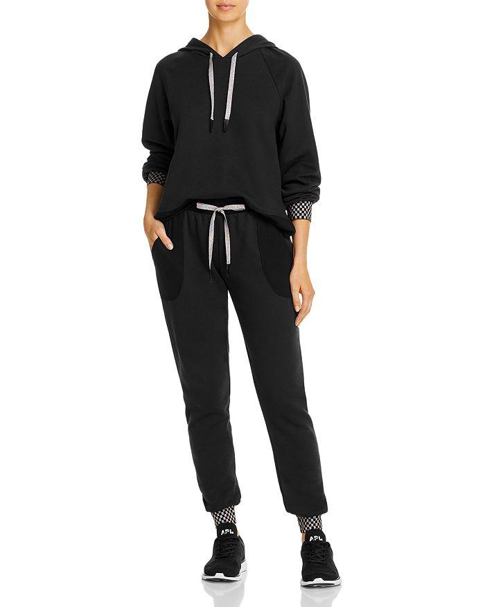 Terez - Checkerboard-Cuff Sweatshirt & Jogger Pants