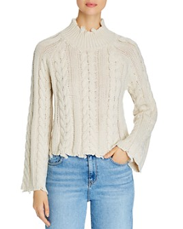 Elan - Distressed Cable Knit Sweater