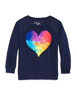 CHASER - Girls' Watercolor Heart Sweatshirt - Big Kid