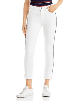 7 For All Mankind - Ankle Skinny Jeans in Winter White
