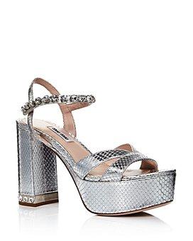 Miu Miu - Women's Crystal-Embellished Platform Sandals