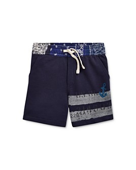 Ralph Lauren - Boys' Bandana-Waist French Terry Shorts - Little Kid