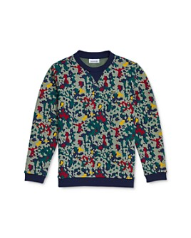 Lacoste - Boys' Camo Print Sweatshirt - Little Kid, Big Kid