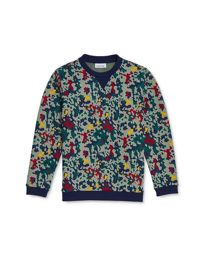 Lacoste - Boys' Camo Print Sweatshirt - Little Kid, Big Kid
