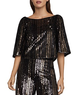 BCBGMAXAZRIA - Boxy Sequined Top