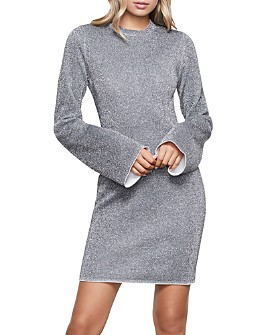 Good American - Bell-Sleeve Sparkle Dress