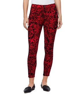 Sanctuary - Mid-Rise Ankle Skinny Jeans in Leopard Dream Party