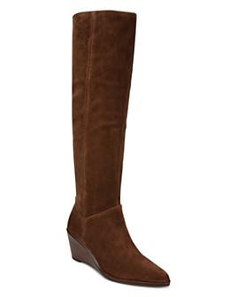 Vince - Women's Marlow Over-the-Knee Wedge Heel Boots