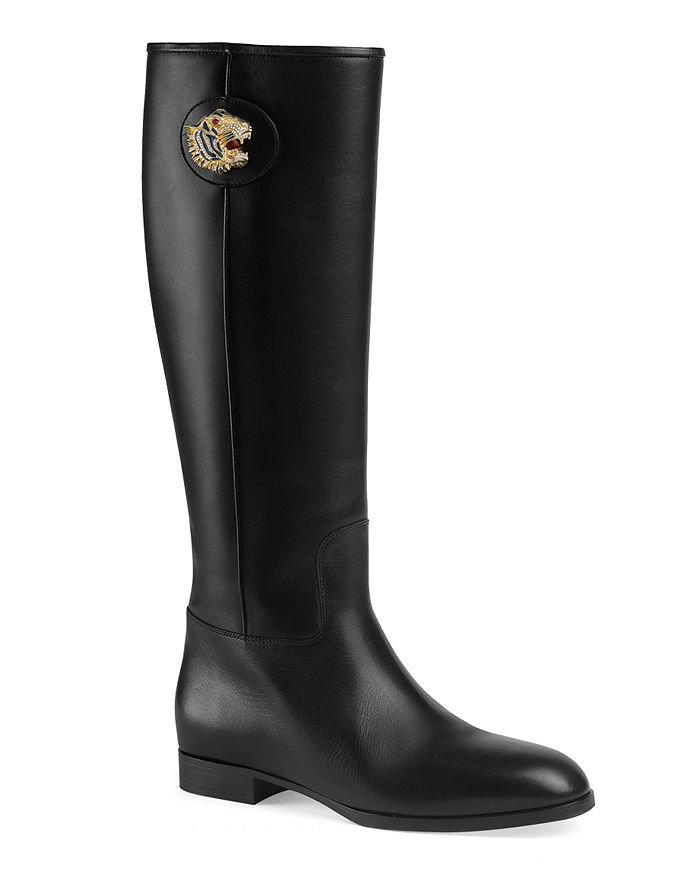 Gucci - Women's Leather Boots with Tiger Head