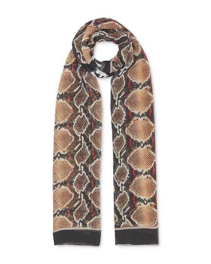 Burberry - Python Print Silk Scarf