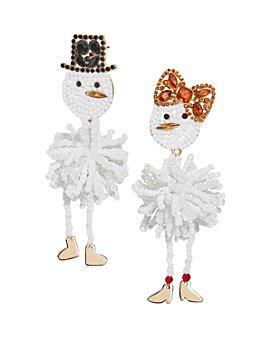 BAUBLEBAR - Snowman Couple Mismatched Drop Earrings