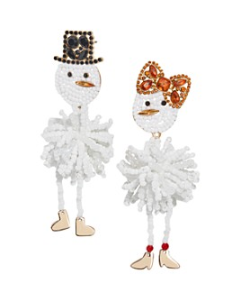BAUBLEBAR - Snowman Couple Mismatched Drop Earrings