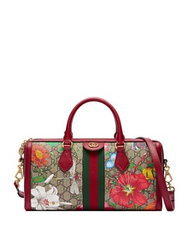 Gucci - Ophidia GG Flora Medium Top Handle Bag