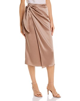 Cinq à Sept - Mya Silk Tie-Waist Wrap Skirt