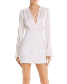 Cinq à Sept - Silk Bell-Sleeve Mini Combo Dress