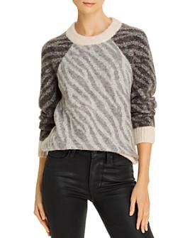 Parker - Bella Color-Blocked Zebra Sweater
