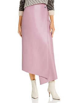 ÁERON - Lucilla Faux-Leather Wrap Skirt