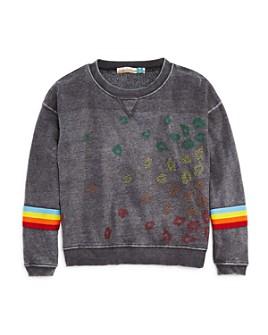 Vintage Havana - Girls' Rhinestone Leopard-Pattern Sweatshirt - Big Kid