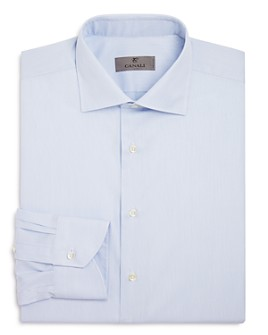 Canali - Textured Tonal Weave Regular Fit Dress Shirt