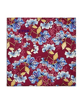 Eton - Flowers & Leaves Silk Pocket Square