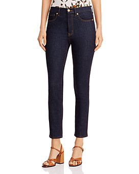 Tory Burch - Straight-Leg Jeans in Resin Rinse