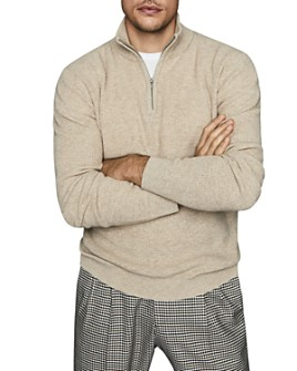 REISS - Adam Half-Zip Ribbed Sweater