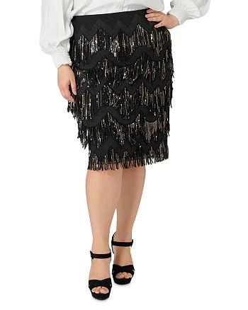 Maree Pour Toi Plus - Sequin-Fringe Skirt