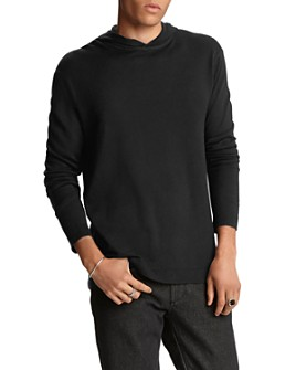 John Varvatos Collection - Silk/Cashmere Hooded Sweater