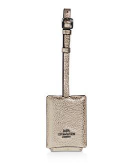 COACH - Metallic Leather Luggage Tag