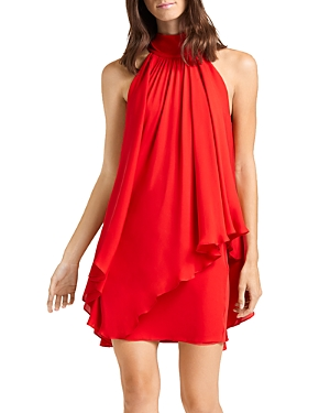 Halston Dresses CONVERTIBLE MOCK-NECK MINI DRESS