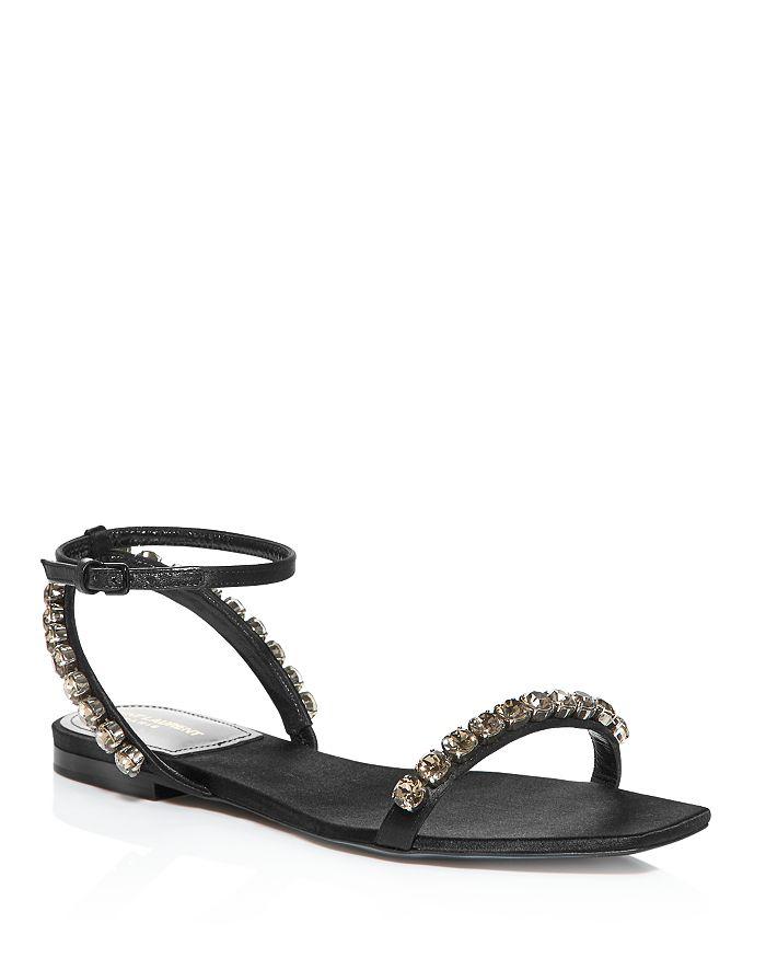 Saint Laurent - Women's Kiki Crystal-Embellished Sandals