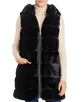 Via Spiga - Grooved Faux Fur Vest