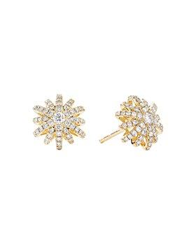 David Yurman - 18K Yellow Gold Starburst Small Stud Earrings with Pavé Diamonds