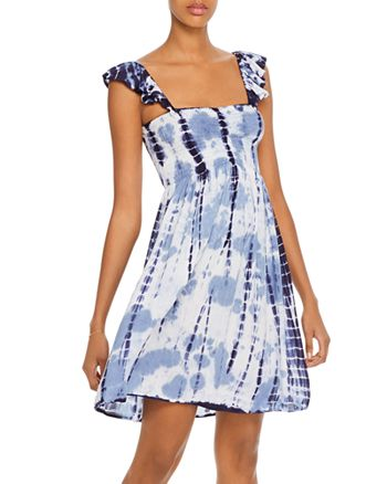 AQUA - Smocked Tie-Dye Dress - 100% Exclusive
