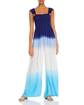 AQUA - Dip-Dye Wide-Leg Jumpsuit - 100% Exclusive