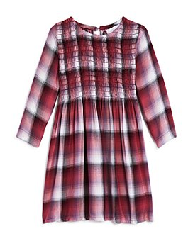 Bella Dahl - Girls' Plaid Smocked Dress - Little Kid, Big Kid