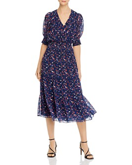 Parker - Midnight Guava Smocked Waist Midi Dress - 100% Exclusive