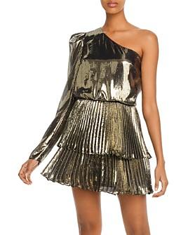 Derek Lam 10 Crosby - Yolie Metallic One-Shoulder Mini Dress