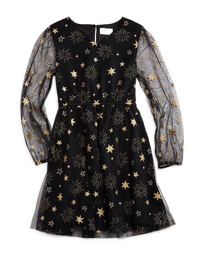 BCBGirls - Girls' Star Print Mesh Dress - Little Kid