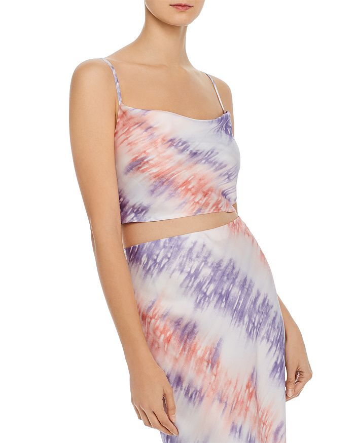Re:named Re: Named Tie-dye Cropped Camisole - 100% Exclusive In Pink/purple