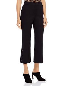 Donna Karan - Buttoned-Hem Kick-Flare Pants