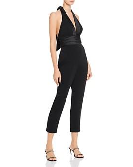 Jay Godfrey - Zane Tuxedo-Style Halter Jumpsuit