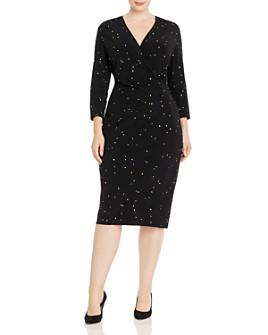 Marina Rinaldi - Decimale Dot-Print Midi Dress