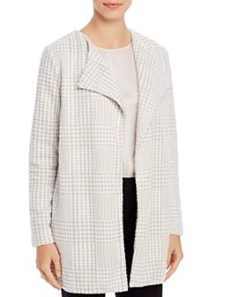 Calvin Klein - Houndstooth Open Front Jacket