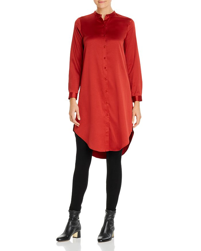 Eileen Fisher Petites - Button-Down Tunic Top