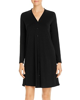 Eileen Fisher - V-Neck Button-Front Dress